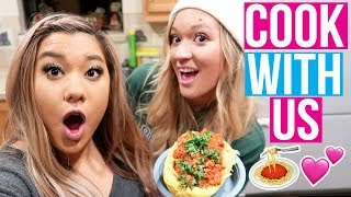 connectYoutube - COOKING WITH REMI & ALISHA!! Vlogmas Day 2!