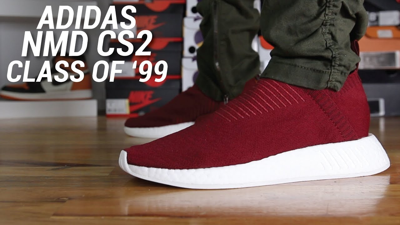 best cheap 18ecf 02907 Adidas NMD CS2 Class of 99 Burgundy Review