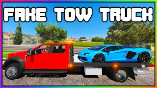 GTA 5 Roleplay - STEALING CARS AS FAKE TOW TRUCK | RedlineRP