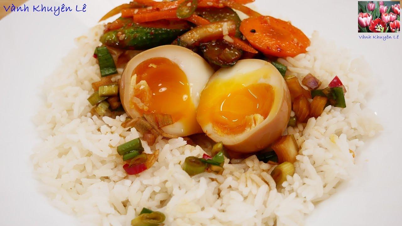 TRỨNG GÀ NGÂM NƯỚC TƯƠNG HÀN QUỐC – Cách luộc Trứng Gà Lòng Đào Mayak eggs by Vanh Khuyen