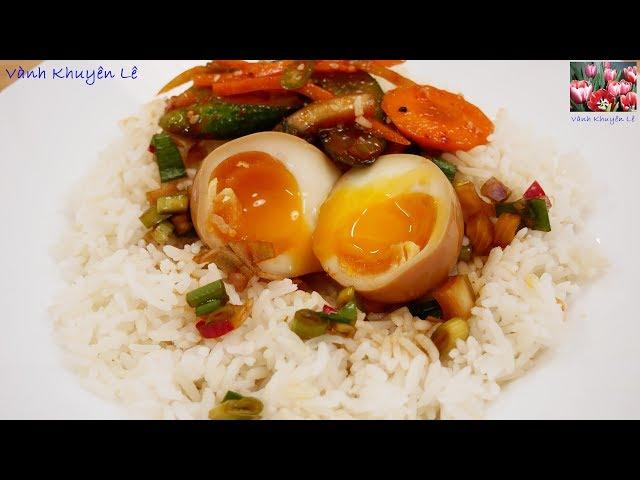 Trứng Gà ngâm Nước Tương Hàn Quốc - Cách luộc Trứng Gà Lòng Đào Mayak eggs by Vanh Khuyen