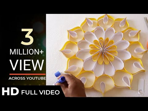 How to Make Wall Decoration with Paper | Easy DIY Home Decor Ideas