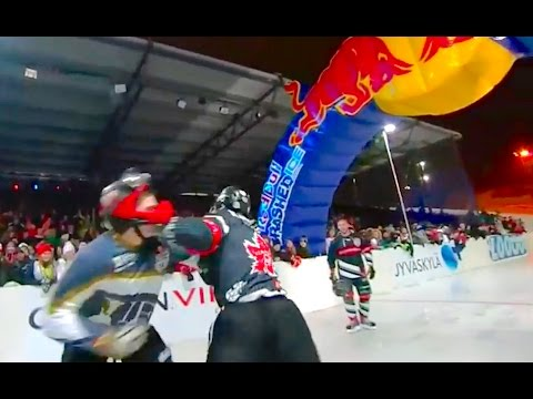 Red Bull Crashed Ice - first ever Fight! (full race)