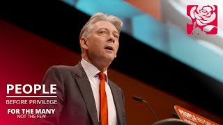 Richard Leonard's speech to Labour Conference 2019