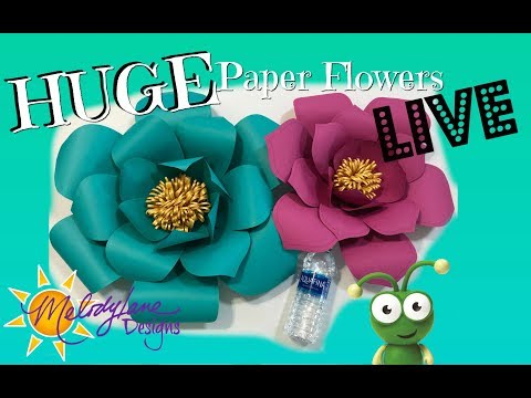 Large Paper Flowers LIVE Cut with Cricut