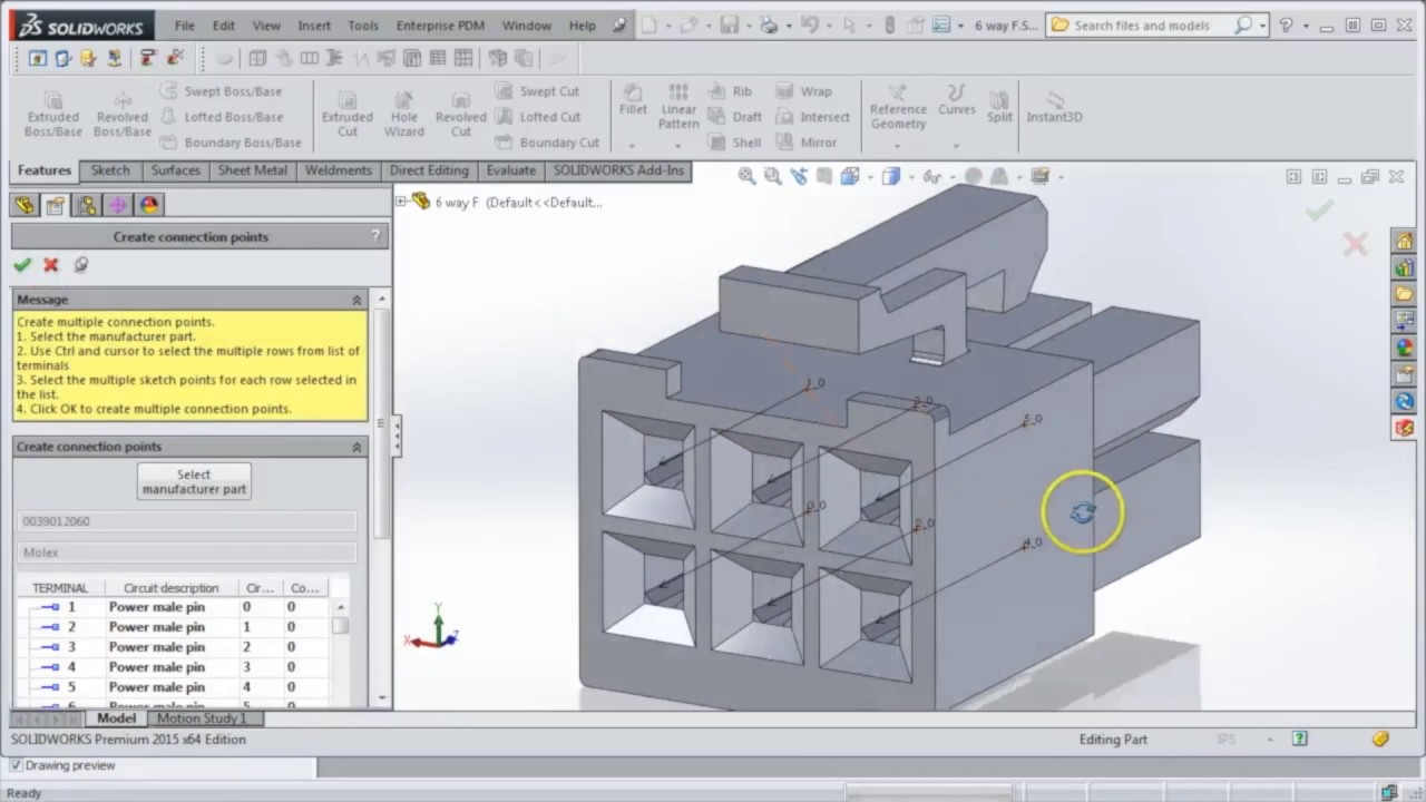 small resolution of video tech tip how to add connection points to electrical components in solidworks electrical 3d