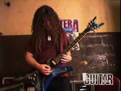 dimebag darrell playing solos with dean guitar youtube. Black Bedroom Furniture Sets. Home Design Ideas