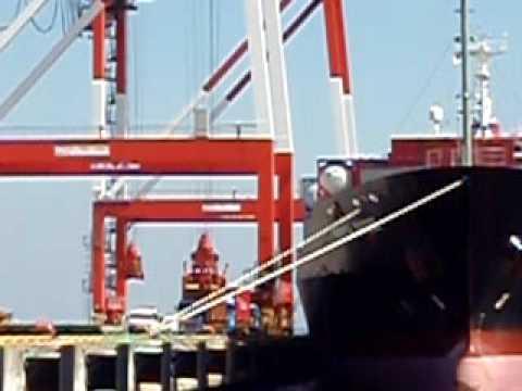 """M/V """"PERTH BRIDGE""""  K-LINE CONTAINER SHIP"""
