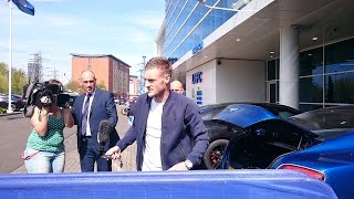 Leicester city Jamie Vardy and Wes Morgan
