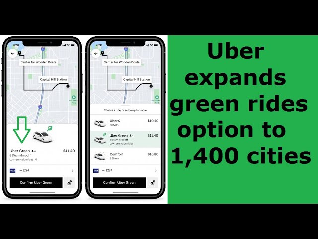 Uber expands GREEN rides option to 1,400 cities.