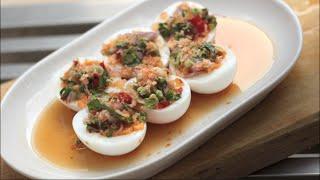 Spicy Egg Salad W/ Herbs - Hot Thai Kitchen!