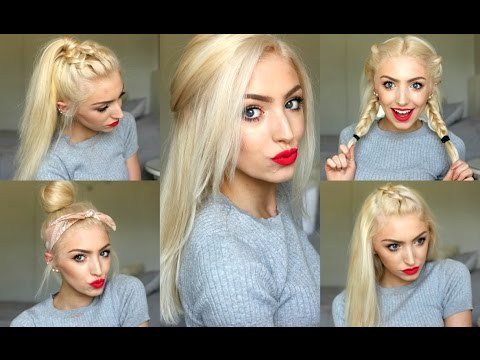 5 Easy SPRING/ SUMMER HAIRSTYLES!