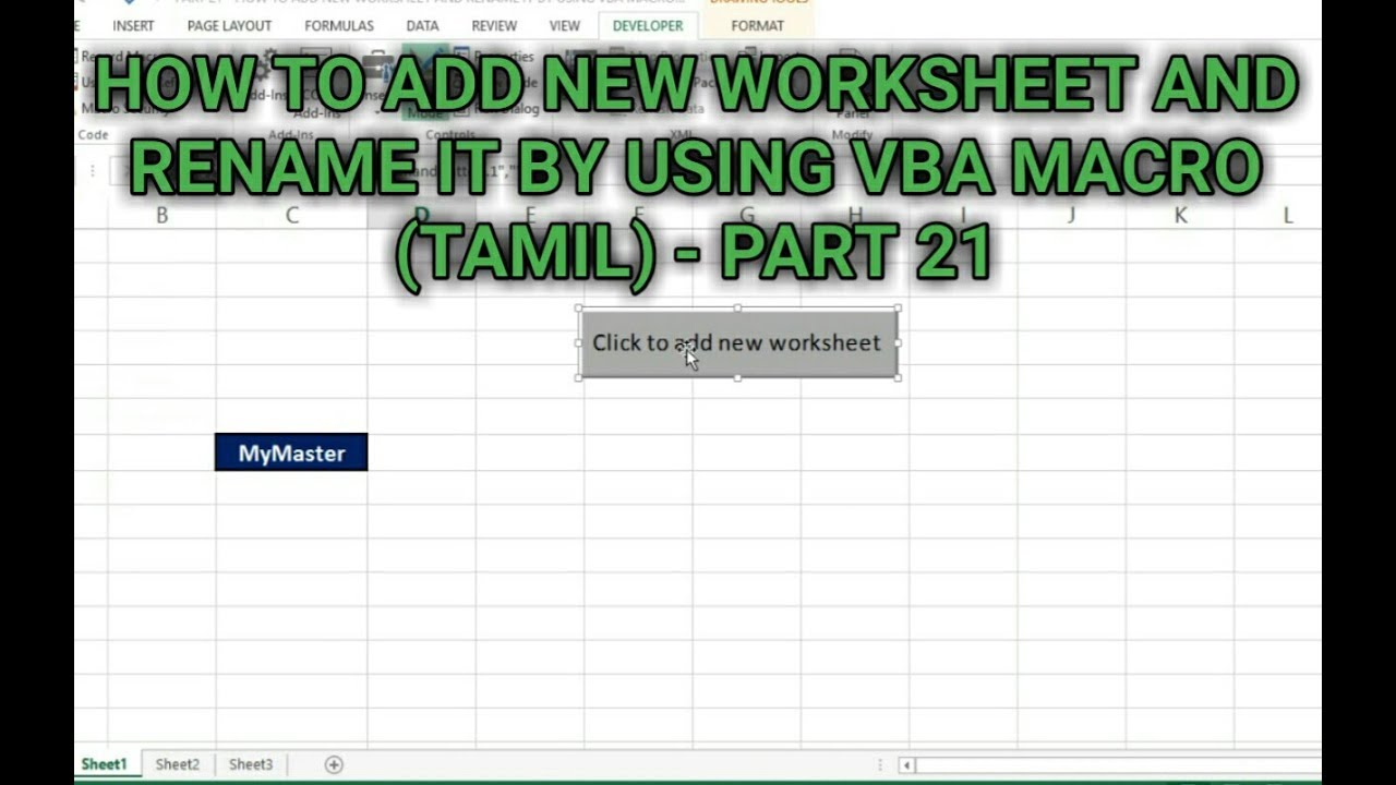 Part 21 how to add new worksheet and rename it by using vba macro part 21 how to add new worksheet and rename it by using vba macro tamil kallanai yt ibookread Read Online