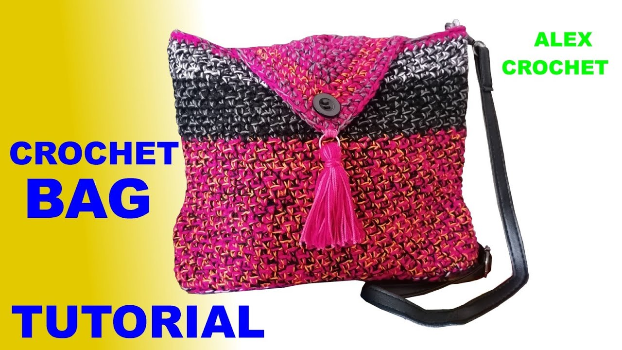 "CROCHET BAG CORD OR COTTON ""FRAGOLINA"" EASY TUTORIAL Alex Crochet"