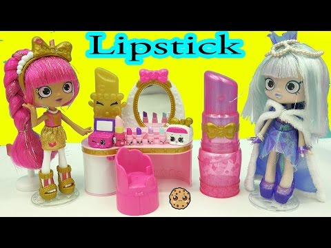 Shoppies Lippy Lulu's Beauty Boutique with Lipstick Makeup Shopkins + Surprise Blind Bags