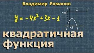 алгебра КВАДРАТИЧНАЯ ФУНКЦИЯ решение примеров