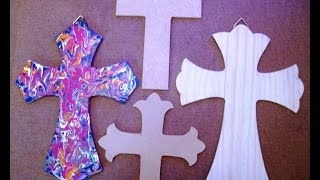 How to paint a wooden cross - Acrylic colors