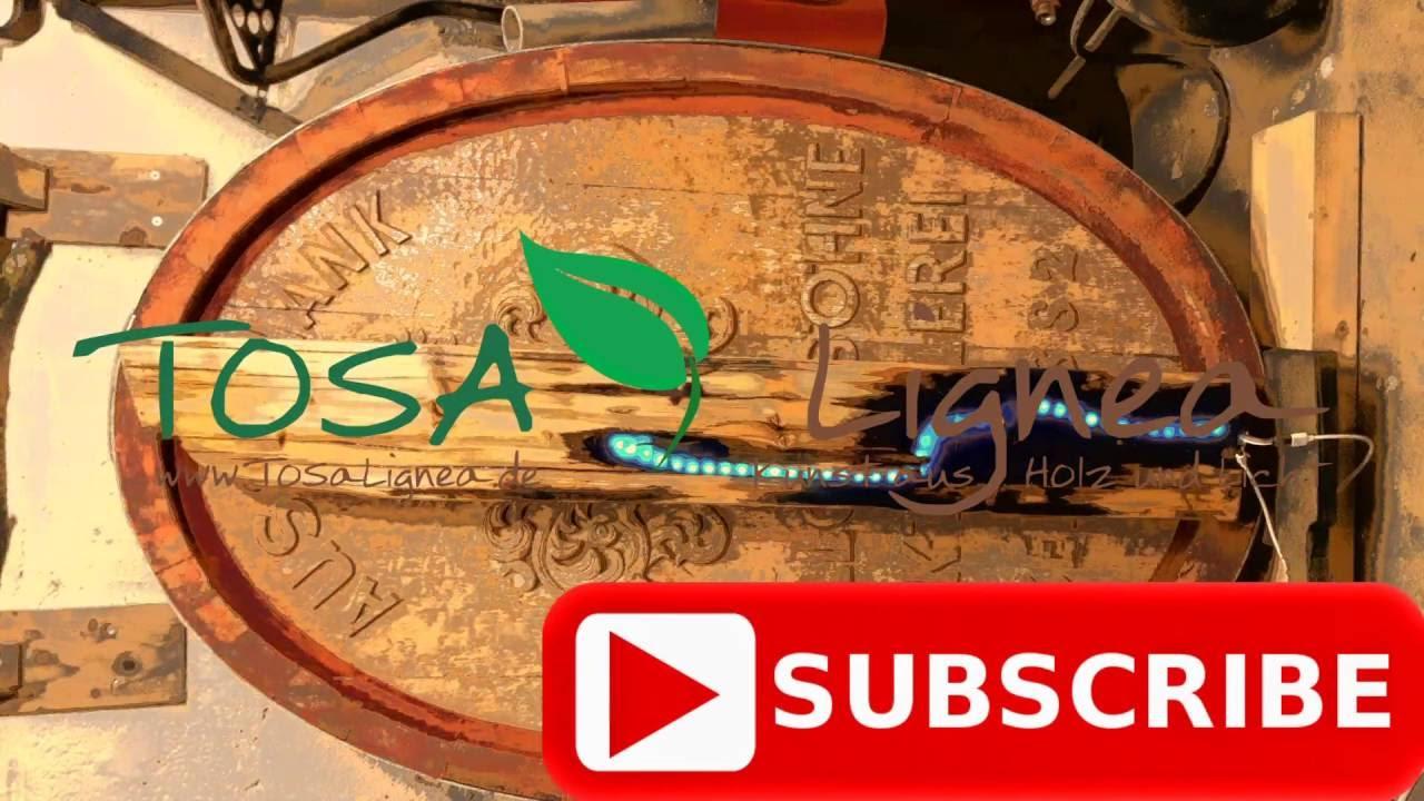 Intro ToSaLignea Kunst aus Holz und Licht Woodworking Art resin ...