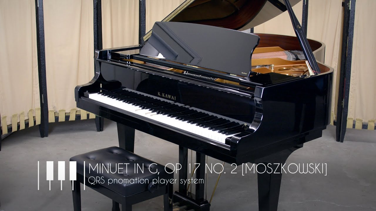 Kawai Upright Pianos Chupps Piano Service Inc >> Minuet In G Op 17 No 2 Qrs Pno3 Player Piano System Kawai Piano
