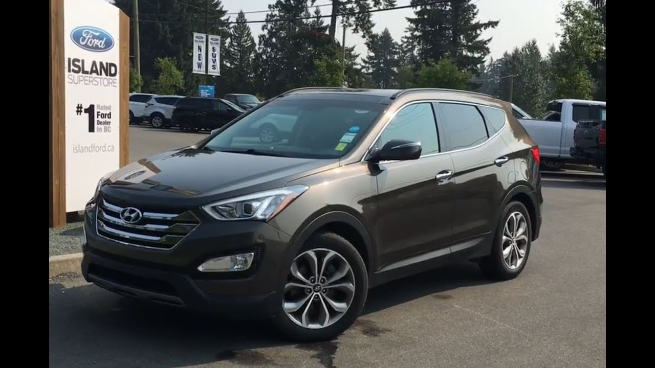 2014 hyundai santa fe sport w leather moonroof awd review island ford youtube. Black Bedroom Furniture Sets. Home Design Ideas