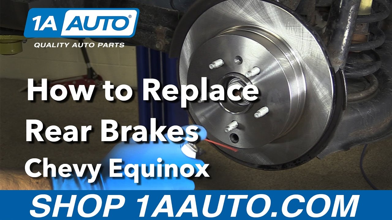 how to replace install rear brakes 08 chevy equinox youtube. Black Bedroom Furniture Sets. Home Design Ideas