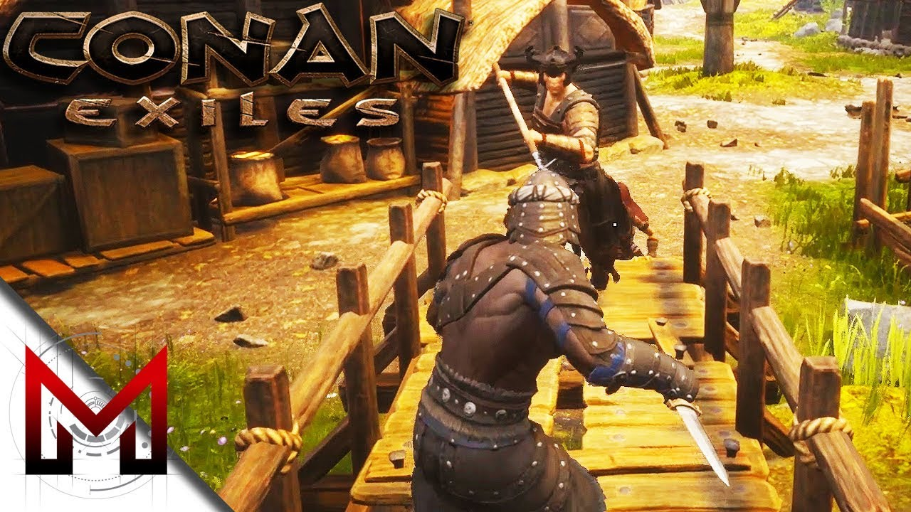 How to knock out Thralls! -=- Conan Exiles Gameplay -=- Ep5