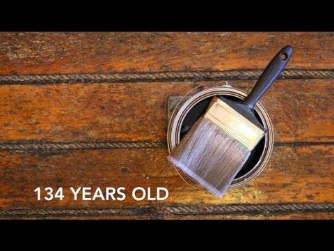 Refinishing 134 year old wood floors!!