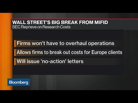 Wall Street Said Poised for SEC MiFID Reprieve