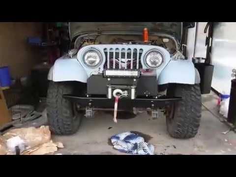 1972 Jeep CJ5 WARN 61859 Rock Crawler Front Bumper Installation