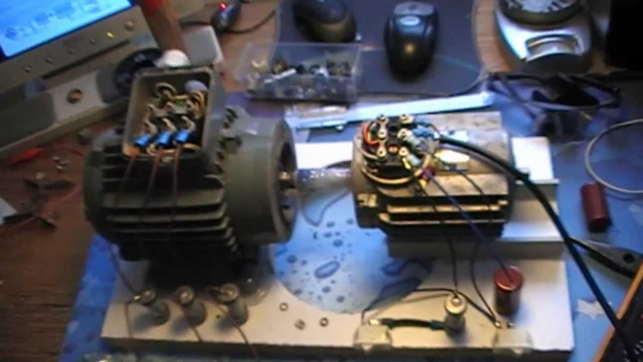 Phase Motor Wiring Diagram Rotoverter Geheimnisse Der Steinmetzschaltung Youtube