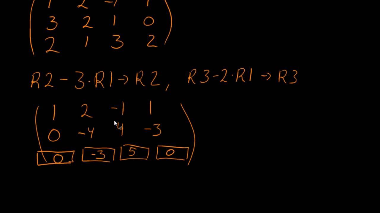 Løse ligningssystem vha. Gauss elimination