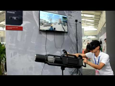 32c14f24ab7d Gatling machine gun VR Kit 2016 with HTC VIVE Oulatech - YouTube