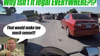 Lane Splitting with a Motorcycle Cop | Fresno, California