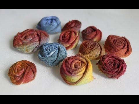 Fiori e rose di stoffa fabric flowers and roses ar for Colorare le rose