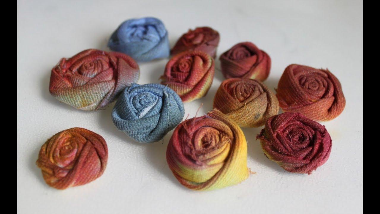Riciclo creativo Tutorial fiori tessuto come trasformare
