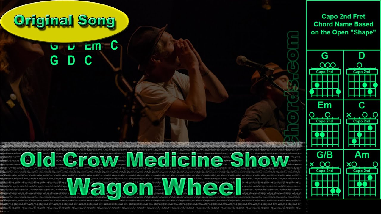 Old Crow Medicine Show Wagon Wheel Original Guitar Chords