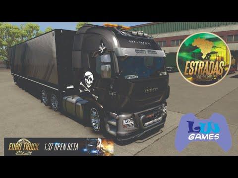 Euro Truck Simulator 1.37 Open Beta - Mapa Estradas Do Brasil