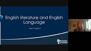 Year 9 Options English
