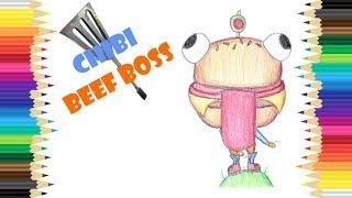 Chibi Beef Boss Fortnite Skin Speed Drawing - DIY - Draw It Yourself