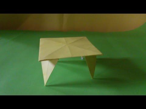 Cara Membuat Origami Meja | Tutorial Origami Peralatan
