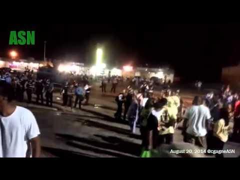 Ferguson: Police Attack/Corral Peaceful Protestors and Media