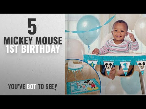 Top 10 Mickey Mouse 1St Birthday [2018]: 1st Birthday Mickey Mouse High Chair Decorating Kit Party