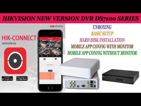 Hikvision dvr setup, Hard Disk Install, hik Connect Mobile App Config