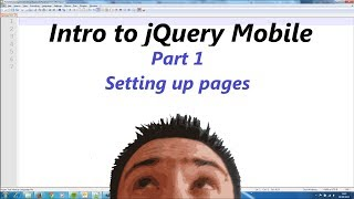 jQuery Mobile Lesson 1 - Setting up pages
