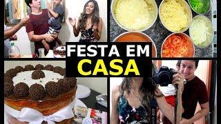 VLOG: PRIMEIRA FESTA NA CASA NOVA  - Caroline Lima