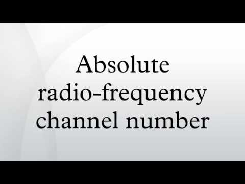 Absolute radio-frequency channel number