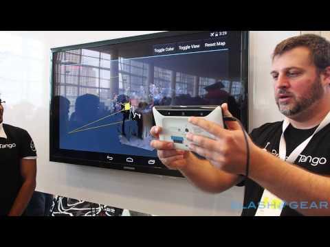 Google Project Tango tablet demo at Google I/O 2014