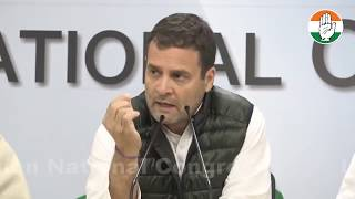 Former PM Dr. Manmohan Singh and CP Rahul Gandhi address media on terror attacks in Pulwama