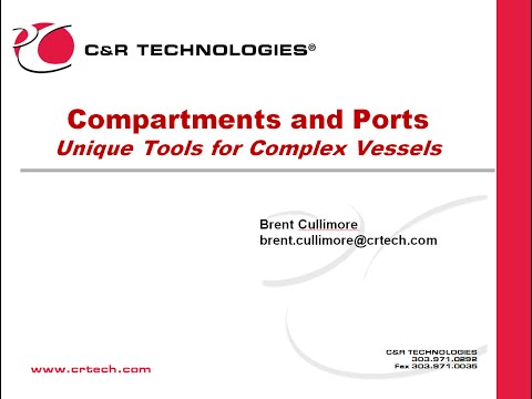Compartments and Ports: Modeling Partially filled Vessels
