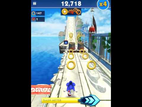 Sonic Dash - 22,494 points with Sonic (x2 multiplier)